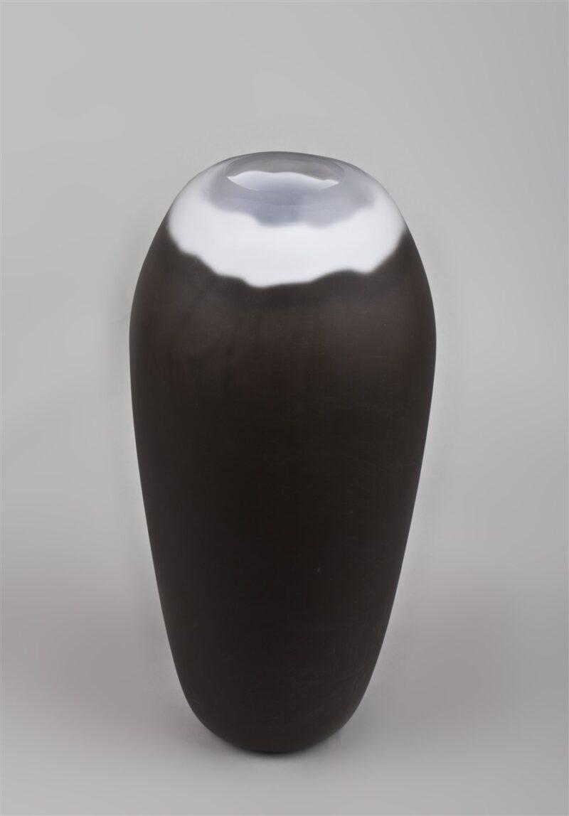 Glasgefäß (braun/weiß)