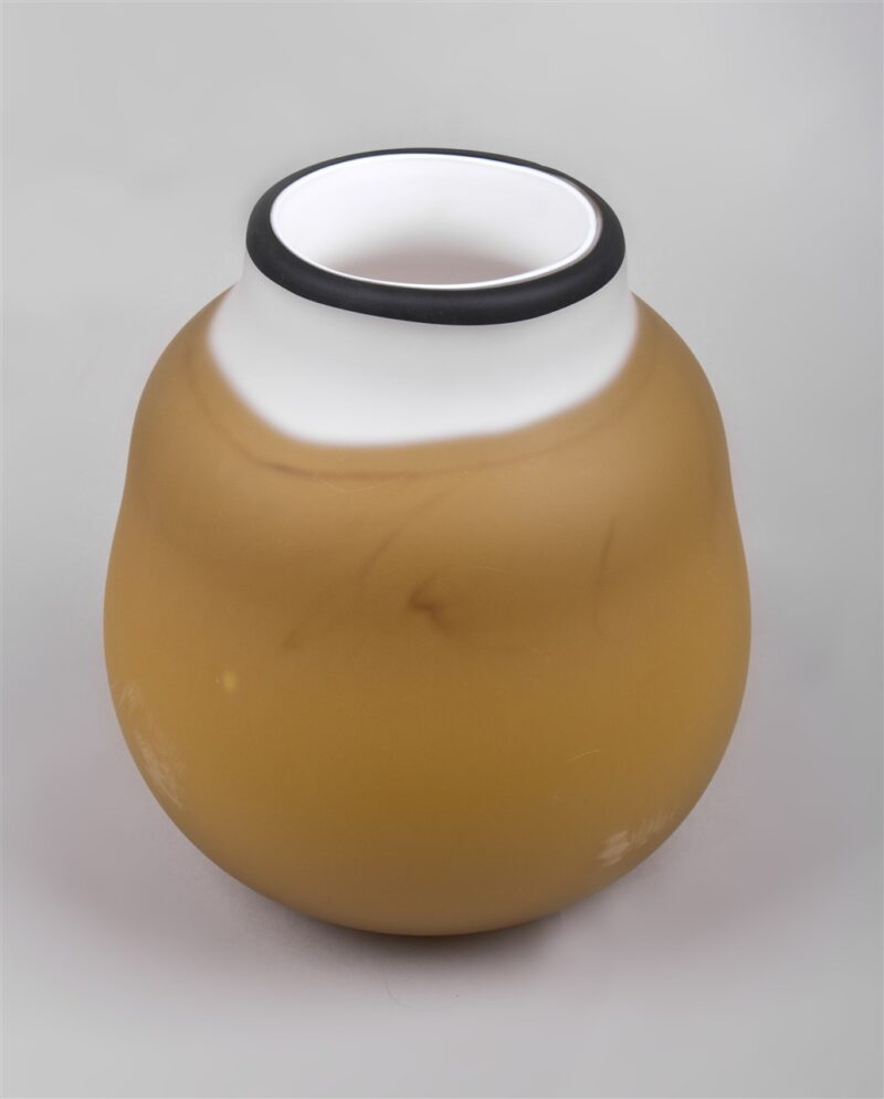 Glasgefäß (bernstein/weiß/schwarz)