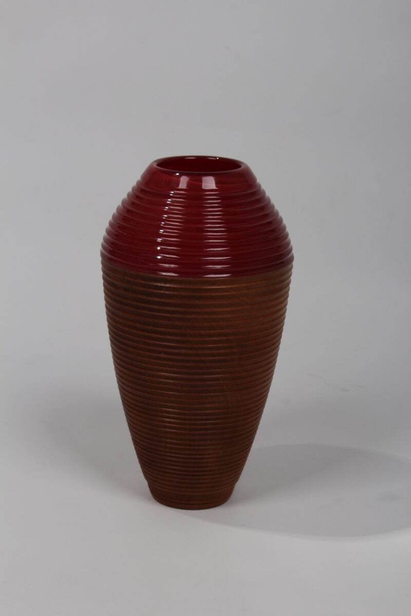 Vase (weinrot)