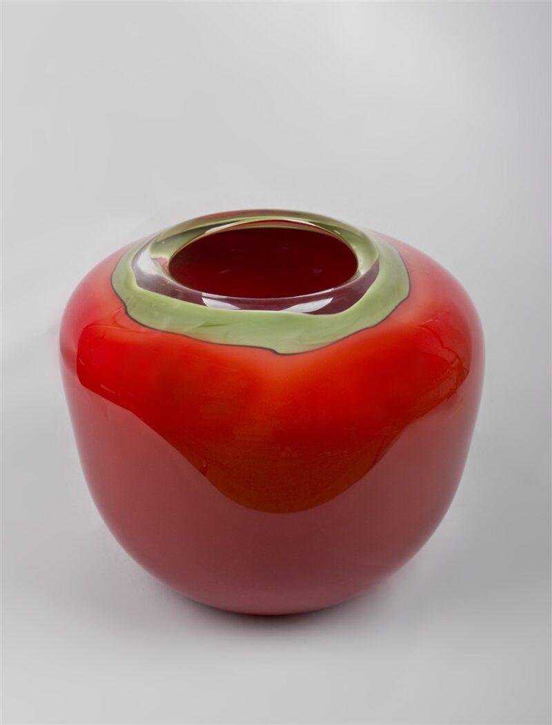 Glasgefäß (rot/grün)
