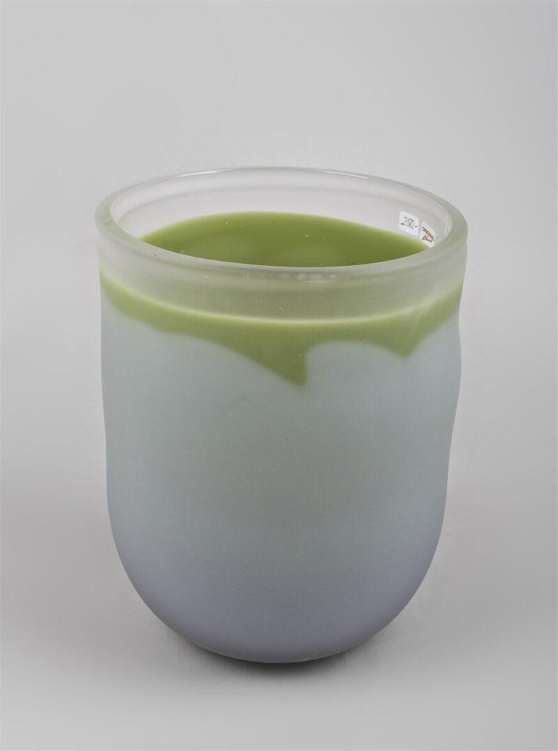 Glasgefäß (grau/grün)