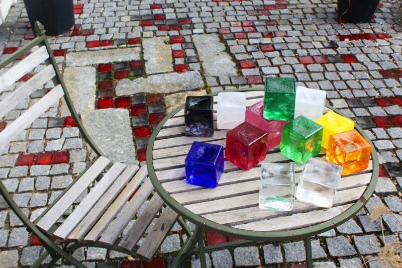 Glaspflastersteine (verschiedene Farben)