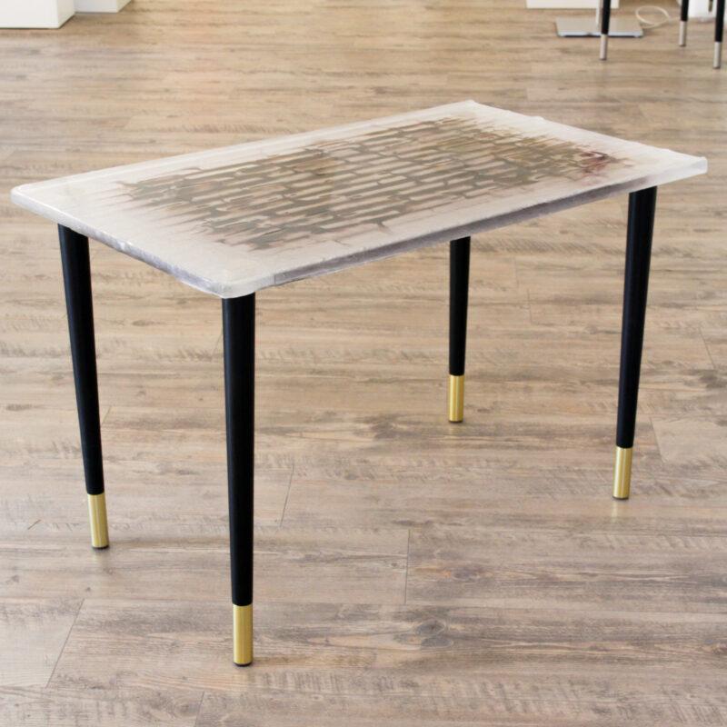 Tisch (kristall/braun)