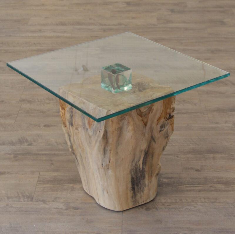 Tisch (Glas/Holz)